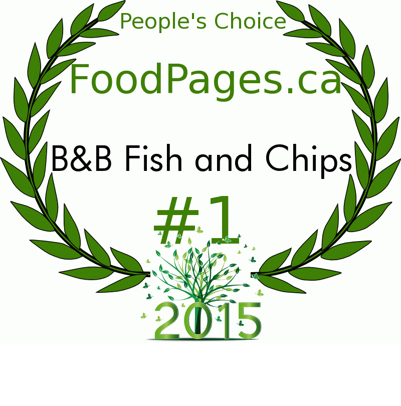 B&B Fish and Chips FoodPages.ca 2015 Award Winner